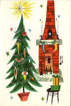 Old Christmas Post Cards — (469x700)
