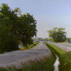 ARTIST:  Marc Bohne  TITLE:  Canal Roads, Upper Valley  MEDIUM:  oil on panel  SIZE:  h: 36 x w: 36 in