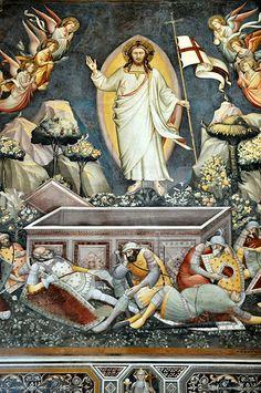 Florence Basilica of Santa Croce - Christ rises Fresco inside #TuscanyAgriturismoGiratola