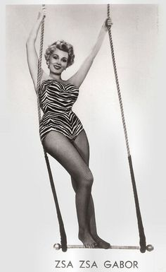 https://flic.kr/p/PzLDr1 | Zsa Zsa Gabor in 3 Ring Circus (1954) | Vintage postcard, no. 2054. Photo: publicity still for 3 Ring Circus (Joseph Pevney, 1954).  Hungarian-born actress Zsa Zsa Gabor(1917) sparkled brightly for over 60 years as a symbol of continental glamour and mystery. Her main period in the cinema was in the 1950s, with as a highlight Moulin Rouge (1952), but Gabor is better known for her nine marriages and countless personal appearances on talk shows and in gossip…
