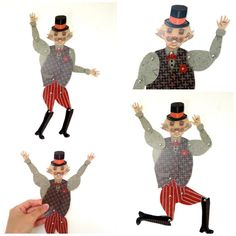 Artist in LA LA Land Illustration: FREE Circus Clown & Ringmaster Paper Puppet Set Exclusively at Little Gatherer