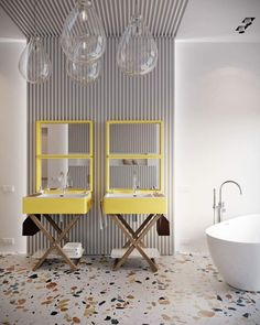 Add yellow to your bathroom