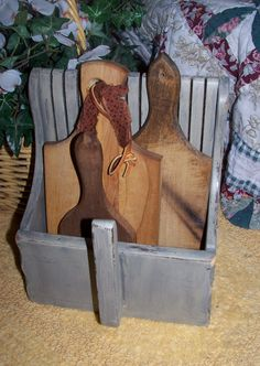 Sheepscot River Primitives - collection of old wood paddles