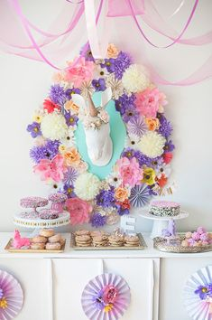 Whimsical unicorn themed party