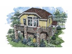 Build your ideal home with this Chalet house plan with 2 bedrooms(s), 1 bathroom(s), 2 story, and 782 total square feet from Eplans exclusive assortment of house plans.