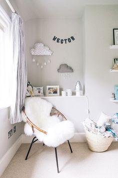 A modern stylish unisex baby nursery with a neutral grey colour scheme. A modern stylish unisex baby Ikea Nursery, Nursery Room, Girl Nursery, Girls Bedroom, Nursery Decor, Bedroom Sets, Nursery Chairs, Nursery Curtains, Baby Nursery Grey