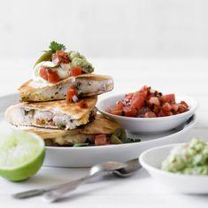 Quesadilla with Salsa and Guacamole