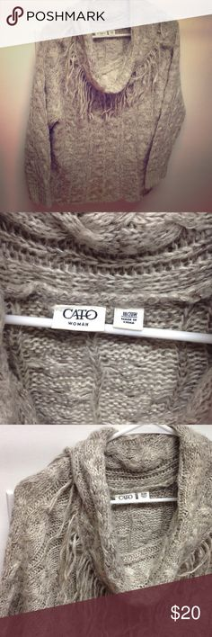 🎉 SALE 🎉 Knitted Cato Sweater 100% Acrylic. Cato Sweaters Cowl & Turtlenecks