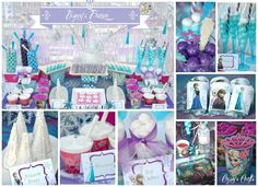 Check out this *cool* party by Crissy's Crafts . a winter wonderland of snowflakes, rock candy icicles, and official Disney's Frozen party supplies from Party City. I haven't seen this movie yet, but Kristen loved it Disney Frozen Party, Frozen Tea Party, Frozen Themed Birthday Party, 6th Birthday Parties, Birthday Ideas, Frozen Frozen, Ana Frozen, Frozen Princess, Summer Birthday