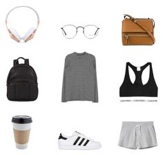"""Plane outfit"" by thisorganizedchaos ❤ liked on Polyvore featuring Frends, Ray-Ban, Givenchy, Alexander Wang, Calvin Klein Underwear, adidas Originals and Monki"