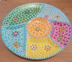 Word vrolijk van de kleuren #stippen #stipstijlvirus Dot Painting, Babyshower, Beach Mat, Outdoor Blanket, Dots, Relax, Stitches, Pointillism, Baby Shower
