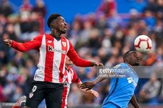 Inaki Williams of Getafe CF battle for the ball with Dakonam Djene of Athletic Club during the La Liga match between Getafe CF and Athletic Club at Coliseum Alfonso Perez on April 2019 in Getafe,. Athletic Clubs, Sports Images, Battle, Football, Running, Summer, The League, Soccer, Futbol