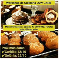 Divulgando o trabalho sensacional das nossas amigas @irmas_paleo . . Sempre ensinando a beleza da culinária low-carb às pessoas. . . Vale a pena conhecer o trabalho delas: @irmas_paleo . .  @Regrann_App from @irmas_paleo -  Boa noite gente linda e Low Carb . Dia 12/10 estaremos em Curitiba e no dia 22/10 em Goiânia.  Mais informações por Whats (47) 9600 0457 ou em posts anteriores . Esperamos vocês para o nosso encontro.  #regrann