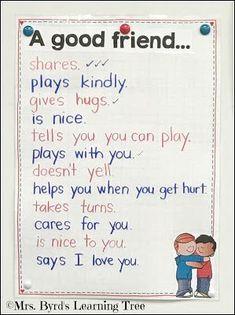Ideas for kindness and friendship FREEBIE too! Friendship Theme Preschool, Teaching Friendship, Feelings Preschool, Friendship Crafts, Friendship Lessons, Preschool Family, Preschool Themes, Preschool Classroom, Classroom Themes