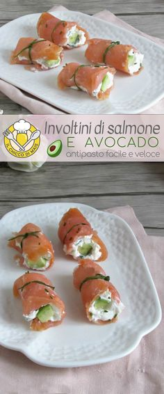 Salmon and avocado rolls - Delicious Meets Healthy: Quick and Healthy Wholesome Recipes Avocado Roll, Avocado Toast, Salmon Avocado, Smoked Salmon, Avocado Dessert, Salmon Y Aguacate, Easy Rolls, Homemade Rolls, Snacks