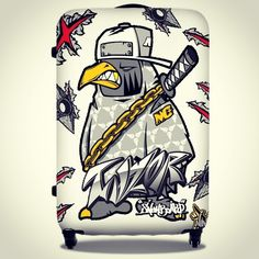Ninja crow taylor. pelican suitcase sticker design. Designed by DOLDOL. www.graphicer.co.kr. #Snowboard #skateboard #suitcase #longboard# #surf #서프 #skull #힙합 #펠리칸  #스노우보드 #롱보드 #bike #해골 #케이스 #bag #pelican #graffiti #여행 #crowtattoo #돌돌디자인 #여행가방 #캐릭터 #인스타그램 #여행가방스티커 #캐리어 #슈트케이스 #extreme #mtb #스티커 #camp