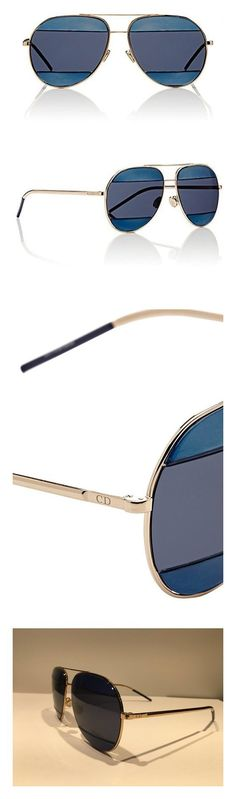 63e94b2c751a Dior 000KU Rose Gold / Blue DiorSplit2 Aviator Sunglasses Lens Category 3  #apparel #accessory