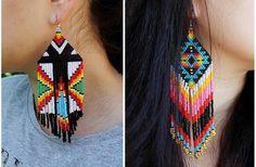 Conjunto de 2 pares de nativos americanos de por HelenDmitrenkoShop