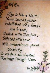 Life is a Quilt, found this while making a 75th birthday tribute for my great aunt who is an avid quilter. Very touching!