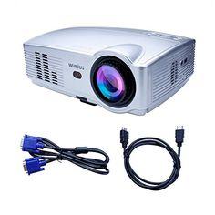 Videoprojecteur Full HD, Vidéoprojecteur LED Projecteur Video 3200 Lumens 1080P Portable Projector LCD 1280*800 Home Cinema Compatible avec…