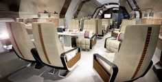 Cloudmaster DC6 G -APSA. Interiors by Bannenberg and Rowell
