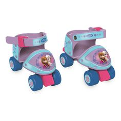 These Disney Frozen themed quad skates are perfect for kids learning how to skate. They feature an adjustable fastening strap for comfort and can be adjusted in size as your little ones feet grow.