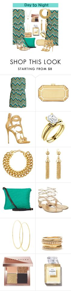 """Day to Night"" by misshonee ❤ liked on Polyvore featuring BCBGMAXAZRIA, Giuseppe Zanotti, A.V. Max, Kenneth Jay Lane, Michael Kors, Lana, Bobbi Brown Cosmetics and Chanel"