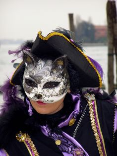Cat Mask.  Venice Carnival 2013 by Lesley McGibbon