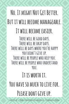It is worth it. Please don't give up.