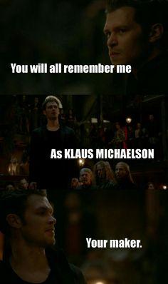 "#TheOriginals 3x22 ""The Bloody Crown"" - Klaus"
