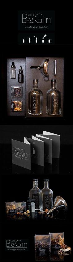 Branding & logo - Let's BeGin - #design-gin #branding