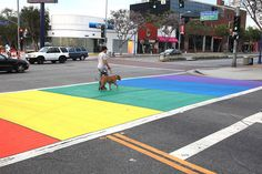 The City of West Hollywood has permanently installed a rainbow pedestrian crosswalk, putting the spotlight on walkability.