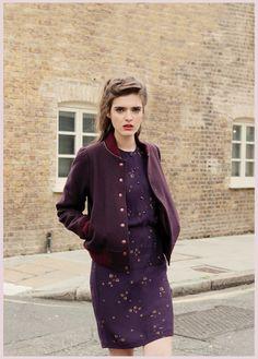 Feminine dress, boyish vest : great idea