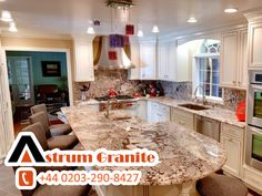 How to Renovate a Kitchen with Countertops Try The Best Kitchen Countertops for Renovations. Call on Astrum Granite for Order Kitchen Renovations Best Kitchen Countertops, Granite Kitchen, Kitchen Worktops, Granite Fabricators, Affordable Granite, Order Kitchen, Granite Worktops, White Granite, Kitchen Remodel