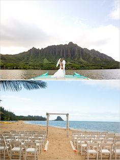 Oahu wedding venue: Kualoa Ranch (home of hit TV Show LOST) #destinationwedding #hawaii #weddingchicks http://www.weddingchicks.com/2014/04/23/destination-hawaiian-wedding/