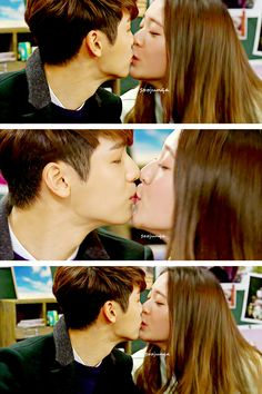 Minhyuk and Krsytal ♡ #Kdrama // The #HEIRS. OMG !! FINALLY !! hahaha