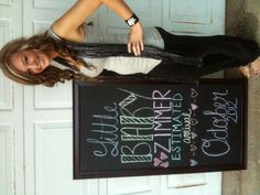 pregnancy chalkboard!! Cute way to introduce your baby.