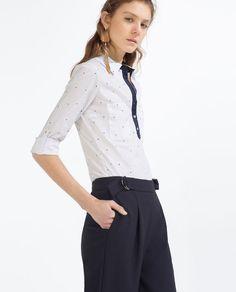 Image 5 of STRETCH POPLIN SHIRT from Zara