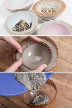 Creative Diy Chic Concrete Project Ideas - Page 19 of 19 Arts And Crafts House, Diy Arts And Crafts, Crafts To Sell, Home Crafts, Diy Crafts, Concrete Crafts, Concrete Art, Concrete Projects, Diy Craft Projects