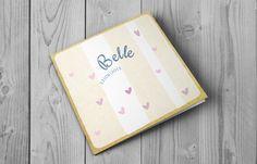 Belle, zoet geboortekaartje met hartjes voor een meisje | BrengOver Kaartjes