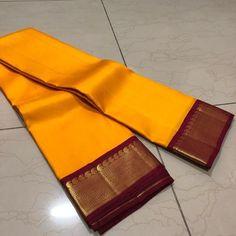 Discover thousands of images about Thamboori handwoven pure kanjivaram silk- mango yellow arakku beauty Kanjivaram Sarees Silk, Mysore Silk Saree, Kanchipuram Saree, Soft Silk Sarees, Chiffon Saree, Cotton Saree, Banarasi Suit, Indian Bridal Sarees, Wedding Silk Saree