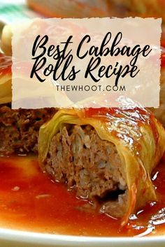 This Cabbage Rolls Recipe is the best ever. Made with simple ingredients and a hearty and flavorful tomato sauce, watch the video now. Vegetable Recipes, Meat Recipes, Crockpot Recipes, Cooking Recipes, Meat Meals, Atkins Recipes, Hamburger Recipes, Cooking Tips, Gastronomia