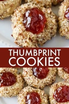 Thumbprint Cookies - A classic jam-filled cookie that practically melts in your mouth! Thumbprint Cookies - A classic jam-filled cookie that practically melts in your mouth! Jelly Cookies, Jam Cookies, Sugar Cookies, Chip Cookies, Nutella Cookies, Filled Cookies, Shortbread Cookies, Raspberry Thumbprint Cookies, Decorated Cookies