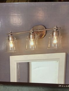 Allen roth 3 light vallymede brushed nickel bathroom vanity allen roth 3 light vallymede brushed nickel bathroom vanity light farmhouse style pinterest allen roth brushed nickel and bathroom vanities aloadofball Image collections