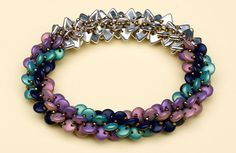 Totally tubular triangle beads by Diane Fitzgerald | August 2014 | BeadandButton.com