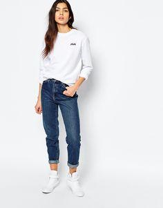 Oversized white Fils sweater