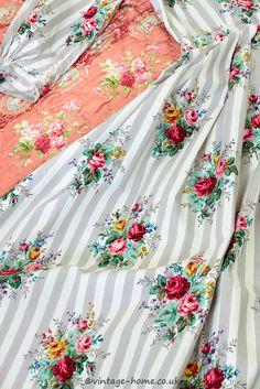 Vintage Home - Sanderson Rose Stripe Housecoat Dress.