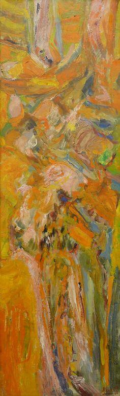 Abboud, Composition, 1960  1960 - Composition, 1960. Oil on canvas laid down on panel, 85 x 25 cm. © Succession Shafic Abboud. Courtesy Galerie Claude Lemand, Paris.