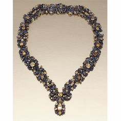 SAPPHIRE AND TOPAZ NECKLACE, PROBABLY PORTUGUESE SECOND HALF OF THE 18TH CENTURY | Lot | Sotheby's