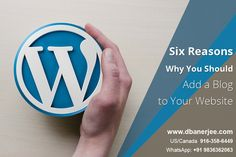 Six Reasons Why You Should Add #Blog to Your #Website Websites with blogs have more indexed pages by 434% than websites without blogs. #Businesses with blogs have 13 times more returns on investment (ROI) than those without blogs,If you still procrastinate over whether your website should have a blog or whether a blog adds value to your business, this article is especially for you http://dbanerjee.com/website-with-blog/